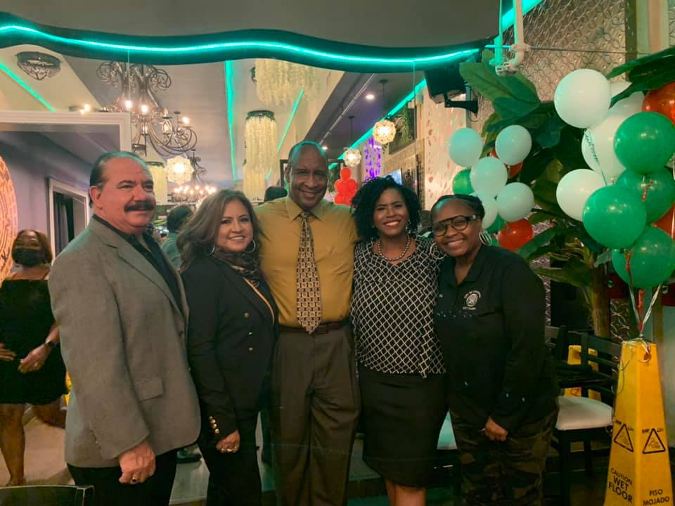 Inglewood CIty Clerk Aisha Thompson at opening of Martin's Cocina in Inglewood, CA. (Courtesy: Inglewood City Clerk's Facebook page)