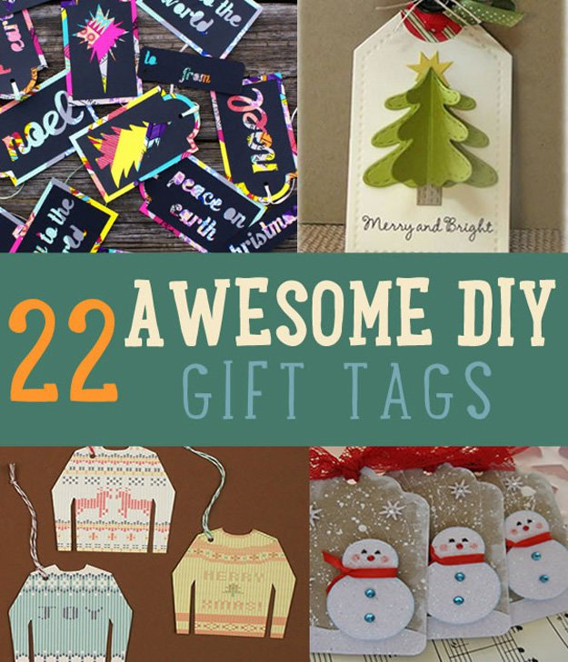 22 Awesome DIY Gift Tags | Christmas Gift Tags