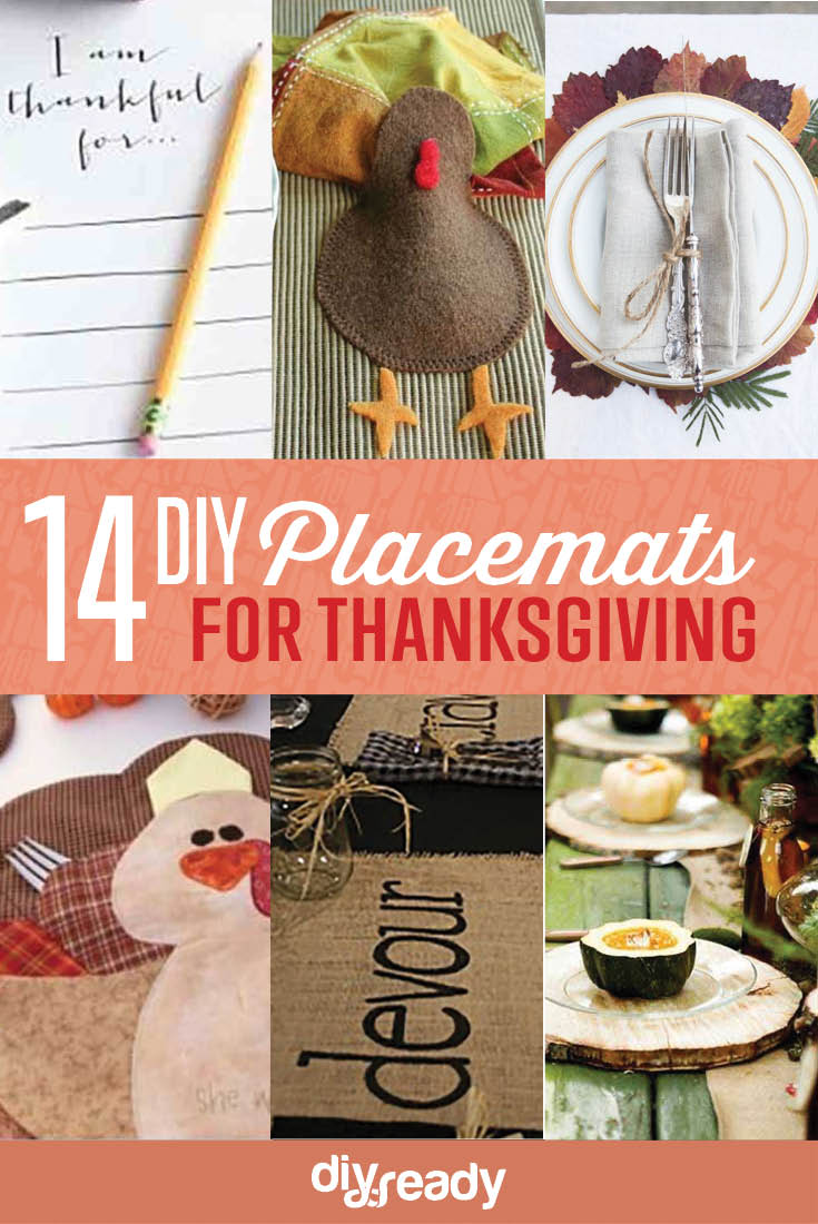 Homemade Thanksgiving Decorations 14 DIY Placemat Ideas