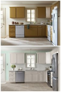 10 DIY Cabinet Refacing Ideas DIY Ready