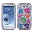 Samsung Galaxy S3 MyBat Dog Paw Bling Case