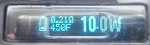 F: Fahrenheit temp-control mode