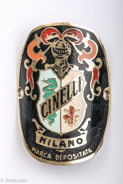 Cinelli head tube badge, head badge - 2VELO-1