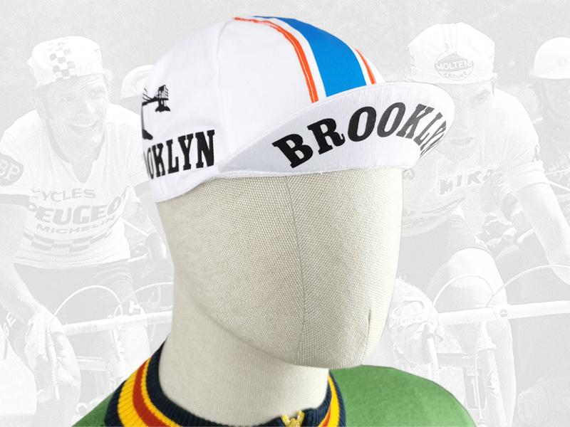 Brooklyn white cycling cotton cap 2VELO