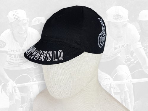 Campagnolo black cycling cotton cap 2VELO