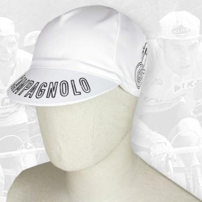 Campagnolo white cycling cotton cap 2VELO