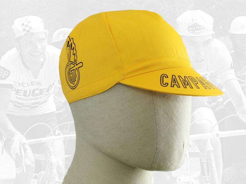 Campagnolo yellow cycling cotton cap 2VELO