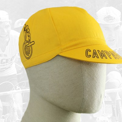 Campagnolo yellow cycling cotton cap 2VELO