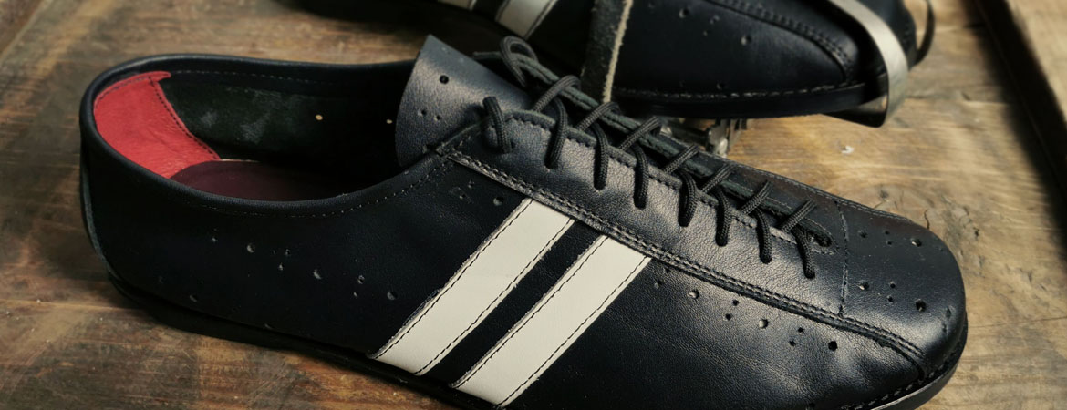 Vintage style cycling shoes, leather 2velo