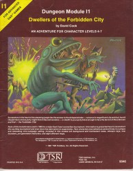 D&D Cover Art: Dwellers of the Forbidden City 1981 2 Warps to Neptune