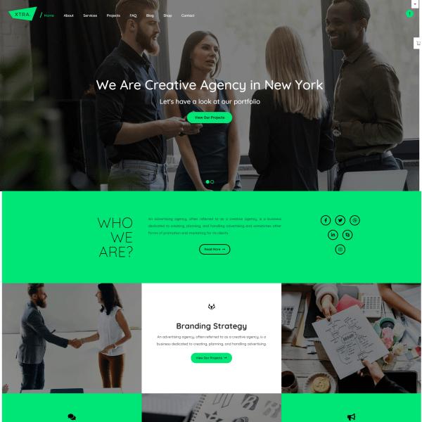 Сайт для креативного агентства