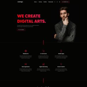 Креативный сайт для разных услуг