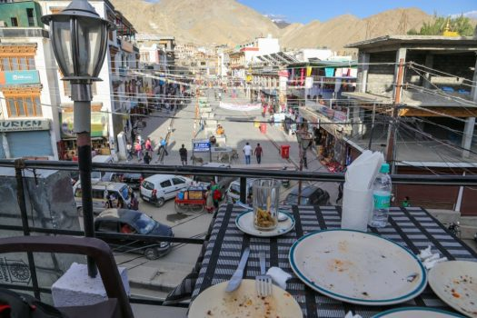 Pizza restaurant overlooking Leh Main Bazaar