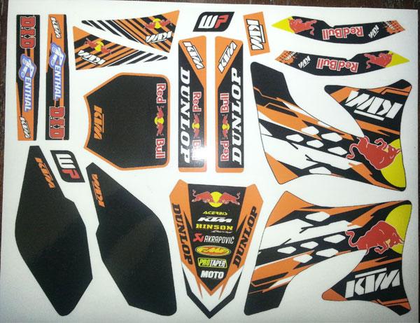 KTM black plates