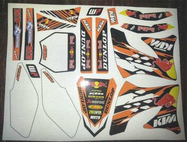 KTM white plates