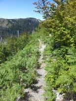 Descending towards Ghost Lake.