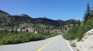 For now, my plan was to ride up to Windy ridge. The paved road is a bit oddly maintained.