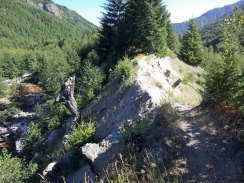 The tiniest (and steepest) ridge line along Smith Creek trail.