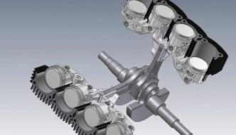 Ducati V8 internal layout