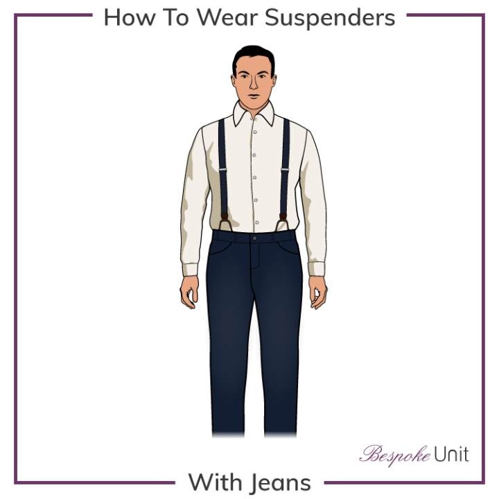 suspenders with jeans