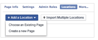 add page facebook locations