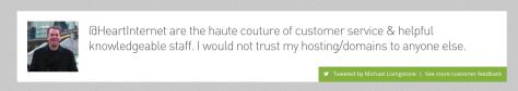 Heart Internet - Twitter powered customer feedback widget