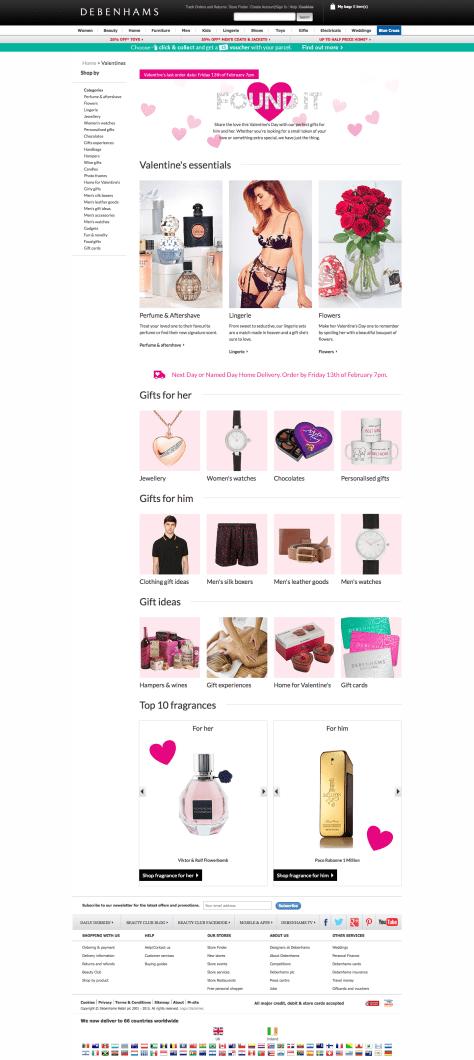 Valentine's Day Gift Ideas | Debenhams 2015-02-14 15-57-13