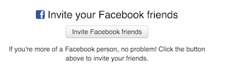 invites a facebook friend