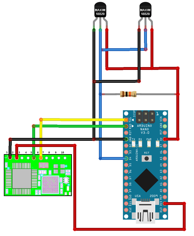 Arduino Wifi Temp Logger