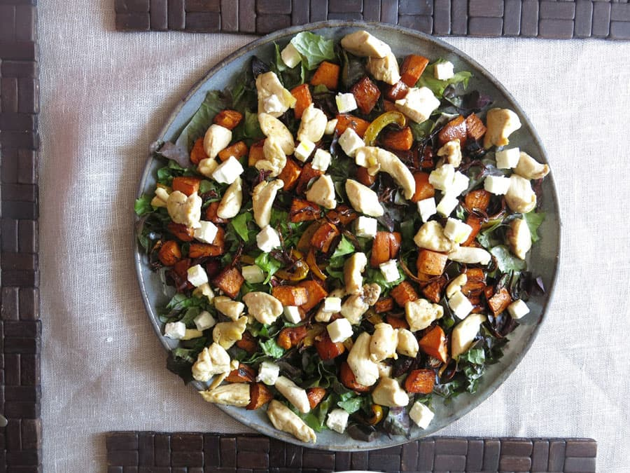 Chicken and Sweet Roasted Vegetable Salad