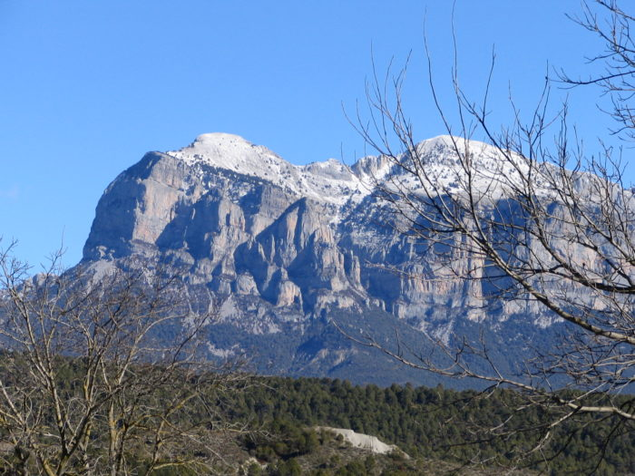 Detalle de la cima de la Peña Montañesa