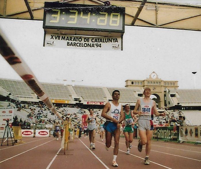Maratón de Barcelona 1994 - Llegada a meta