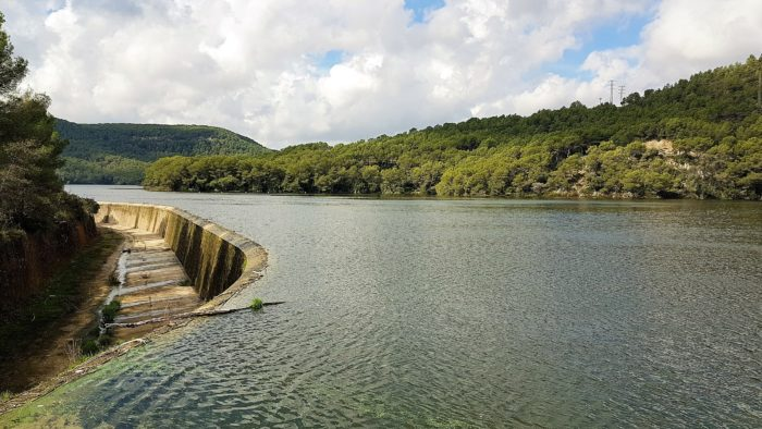 El Pantano de Foix desde la presa