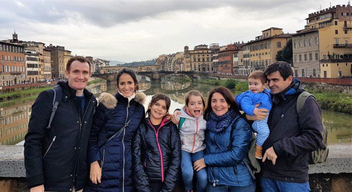 Con la familia en Florencia
