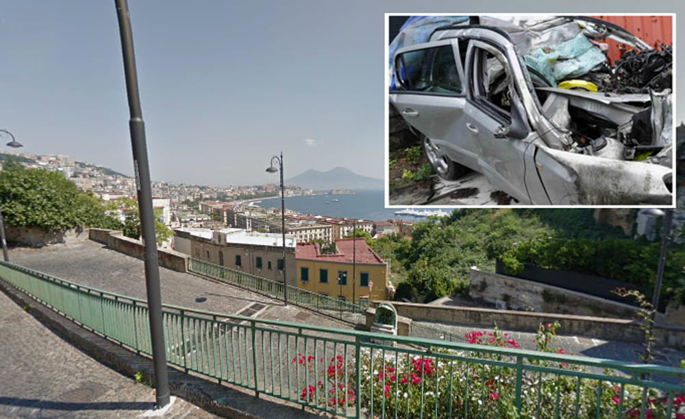 Auto precipitata Rampe SantAntonio le condizioni dei feriti