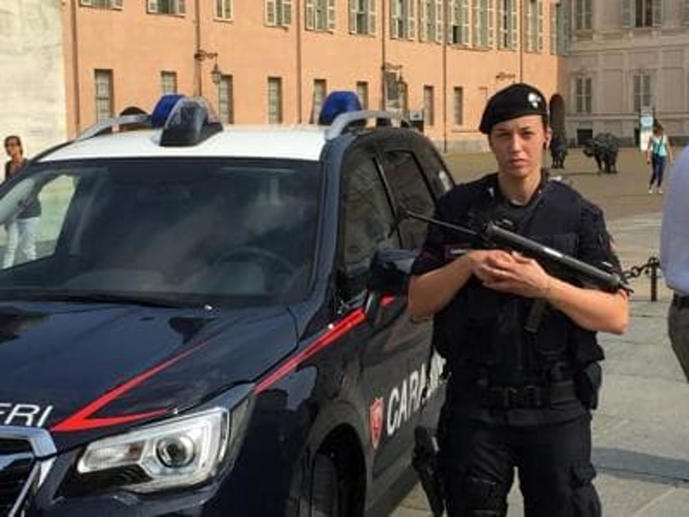 Valentina a Torino lunica carabiniera antiterrorismo