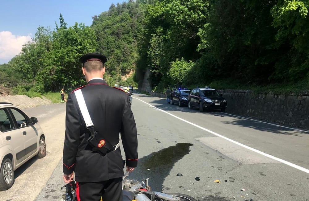 Incidente mortale 2 giugno 2019  Tra Chiomonte ed Exilles  Scontro tra due moto  Morto Melvin