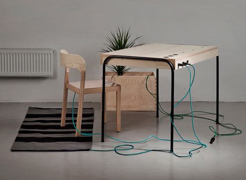 Energy Producing Workspace by Eddi Törnberg