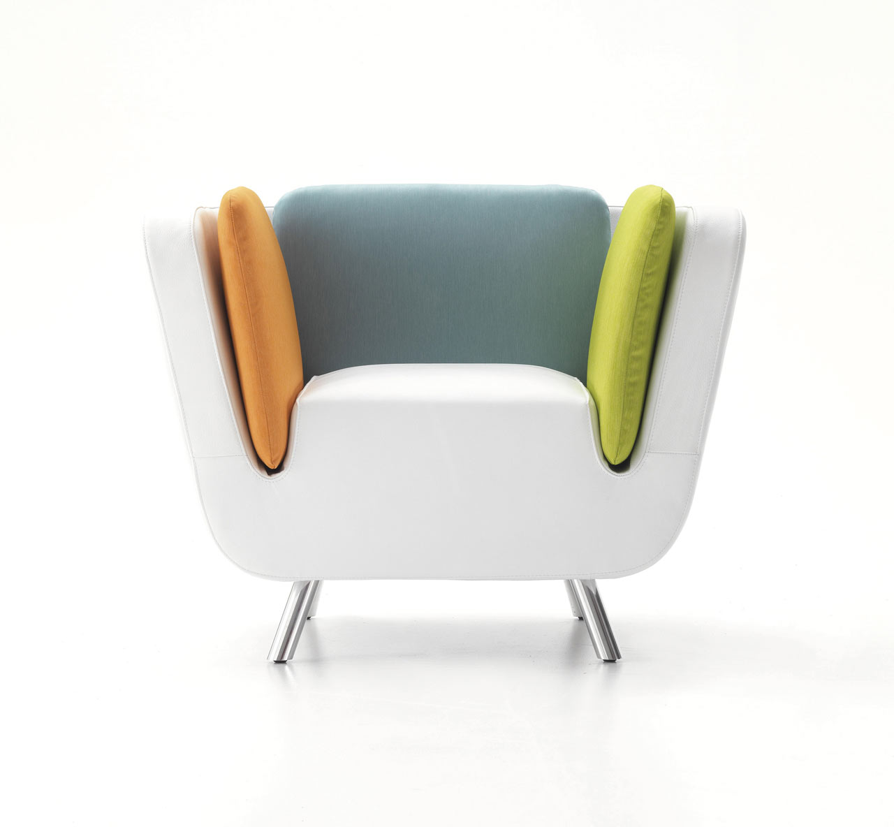 chair design famous white swivel desk chairs nook lounge and matching luggage by karim rashid
