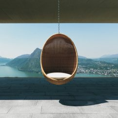 Hanging Wicker Egg Chair With Stand Yoga For Seniors Modern Outdoor - Design Milk