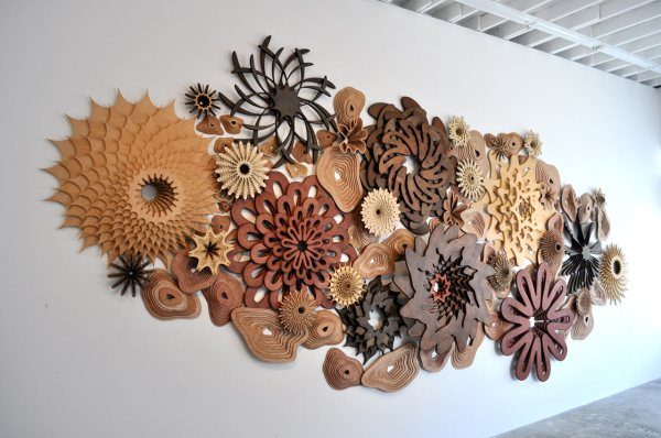 Life Layered Wooden Sculptures Inspired Reefs
