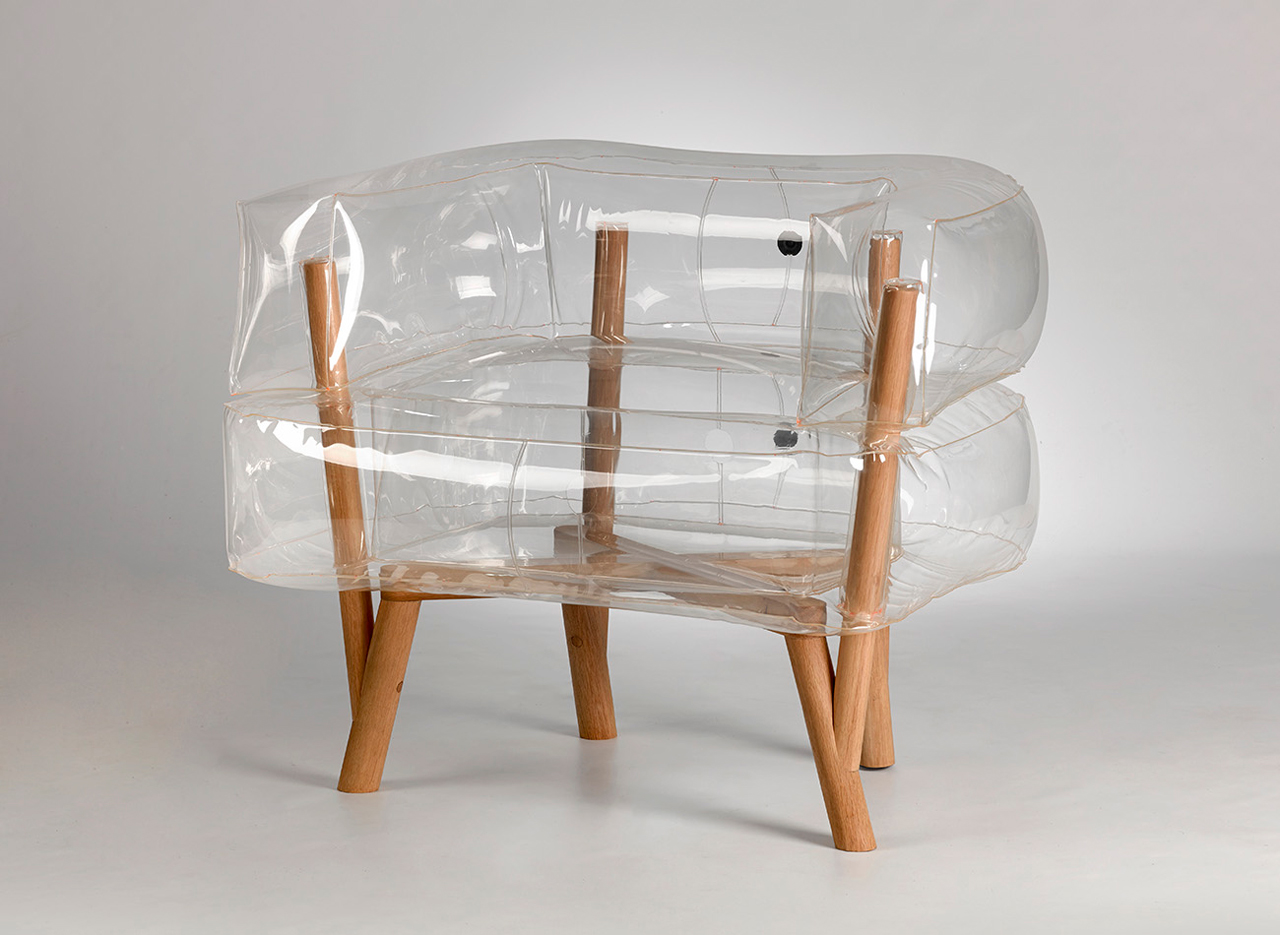 inflatable chair stool saarinen tulip anda an by tehila guy design milk