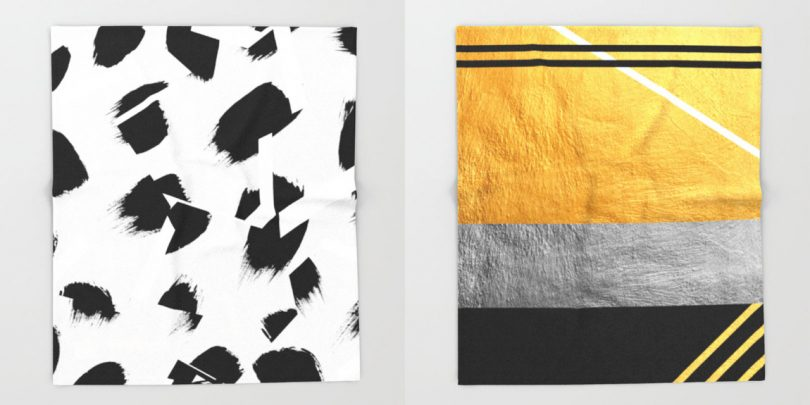 Warm up with Throw Blankets from Society6