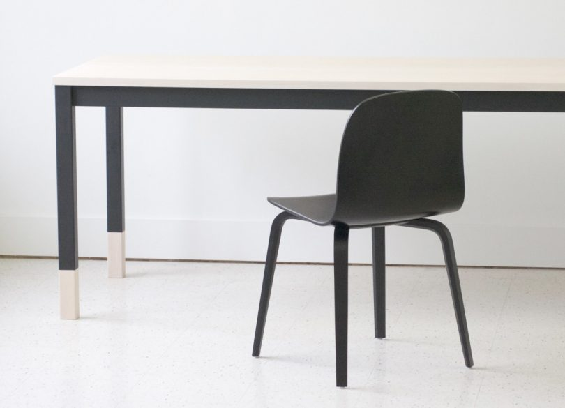 A Minimalist Table Inspired by Classroom Desks from KROFT