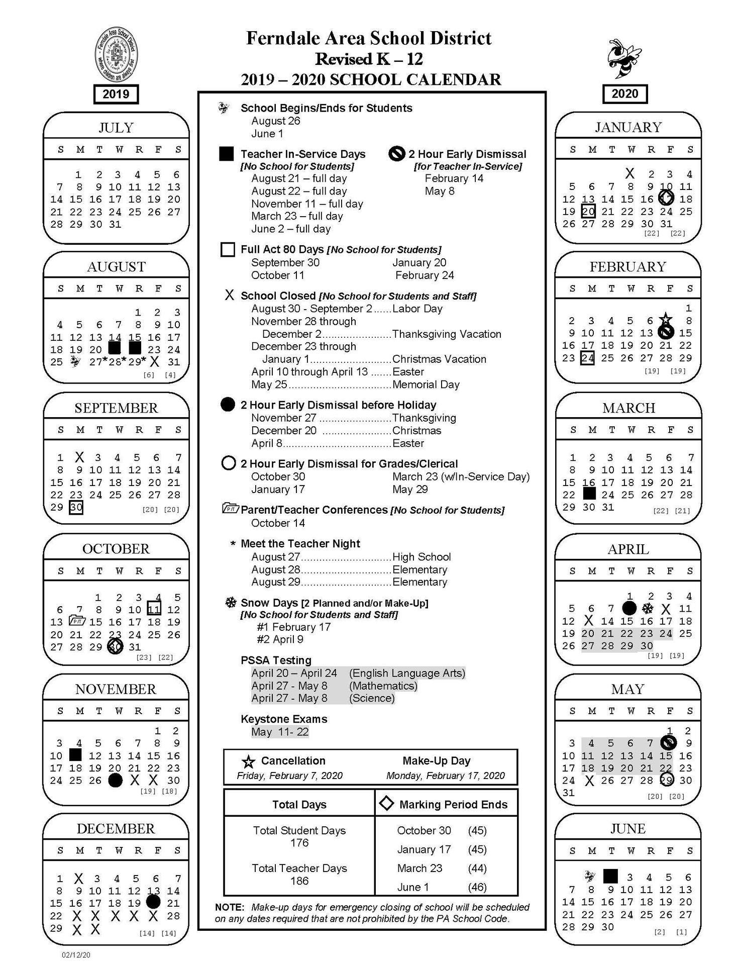 Academic Calendars – District