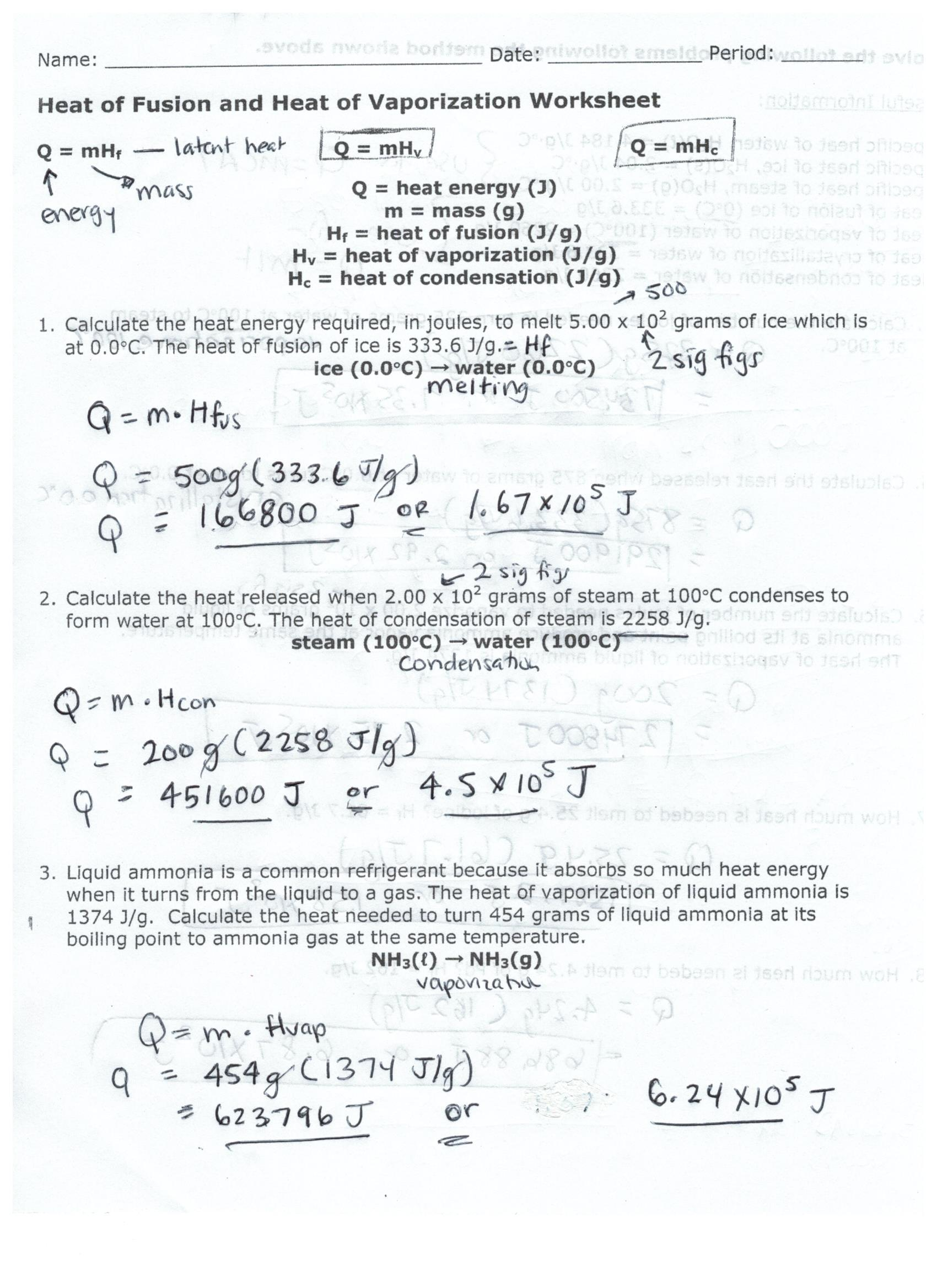 Chemistry Combined Gas Laws Worksheet Answer Key With Work