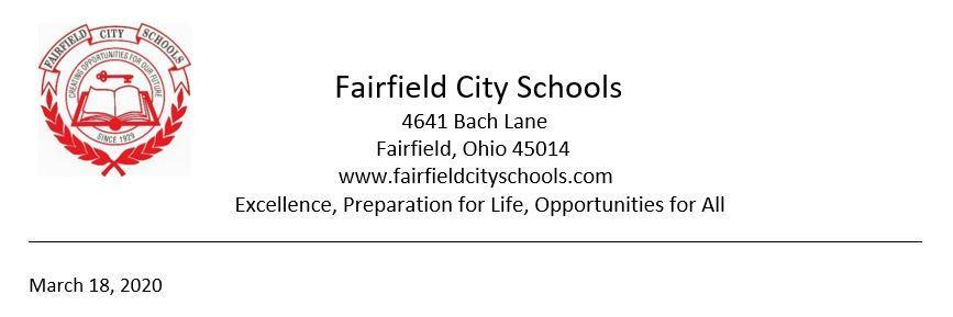 Coronavirus Update – Student Services – Fairfield City School District