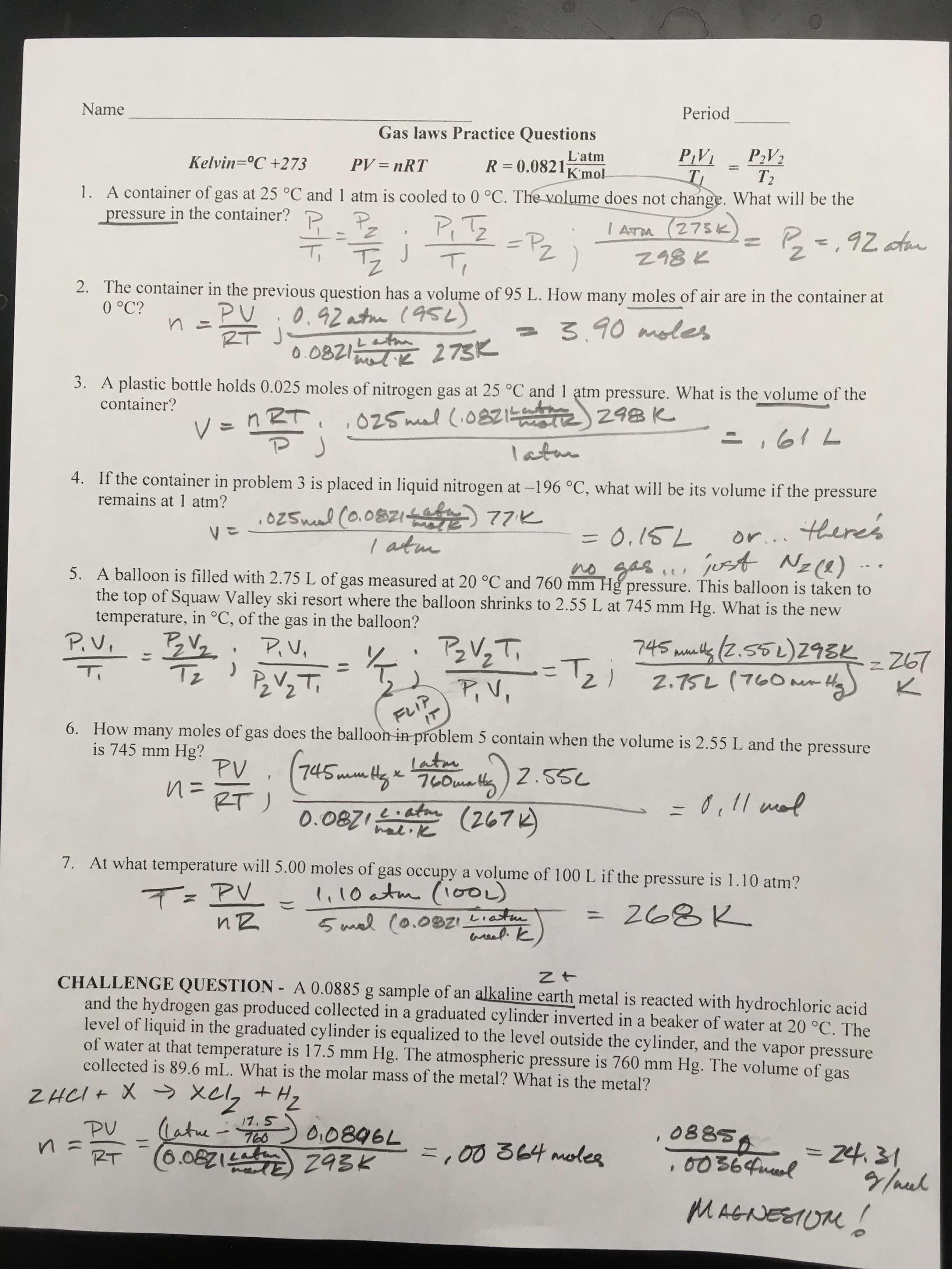 hight resolution of Dimensional Analysis Worksheet Answer Key Chemistry