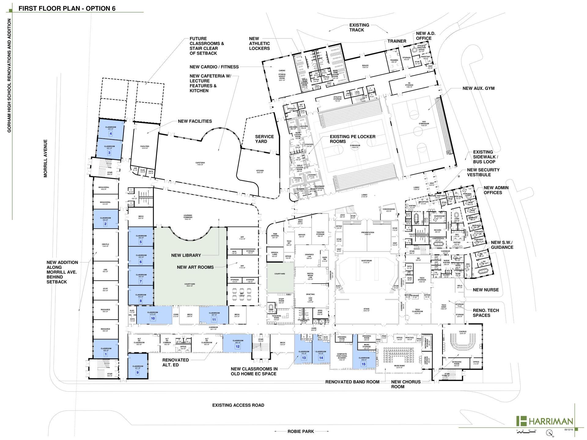 GHS Building Proposed First Floor Design