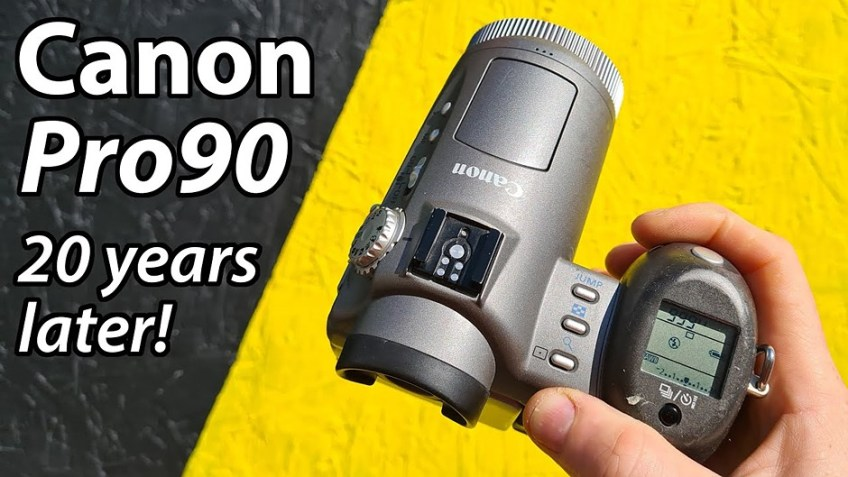 A 'Retro Review' of the 20-year-old Canon Pro90 IS, Canon's first digital camera with optical image stabilization
